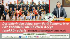 FATİH YAMANER'DEN FİLENİN SULTANLARINA DESTEK